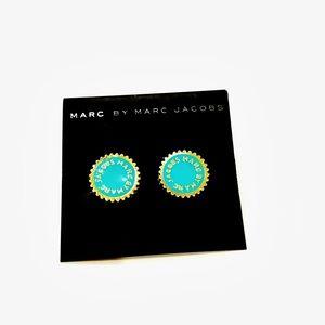 MARC BY MARC JACOBS enamel logo disc earrings NWT